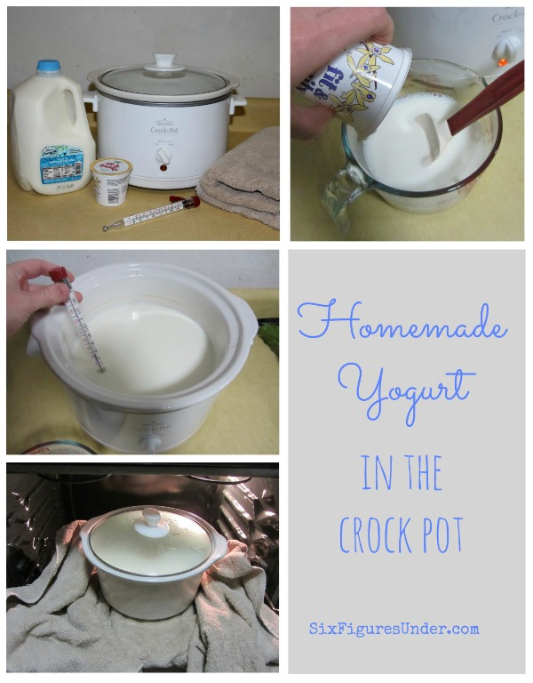 Homemade Yogurt in the Crock Pot - Six Figures Under