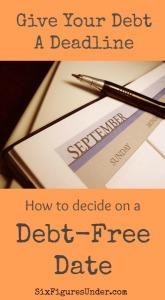 Deciding on a Debt-Free Date
