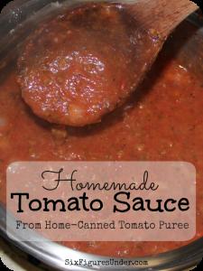 Homemade Tomato Sauce from Tomato Puree