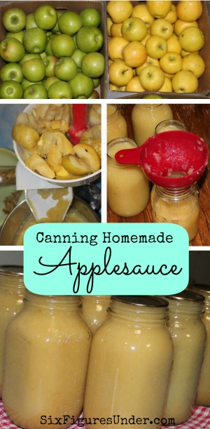 Canning Homemade Applesauce Six Figures Under