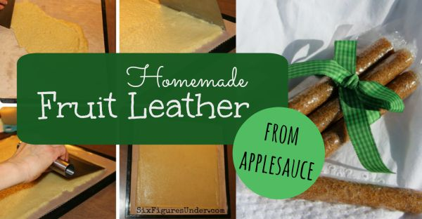 Homemade Fruit Leather from Applesauce Tutorial