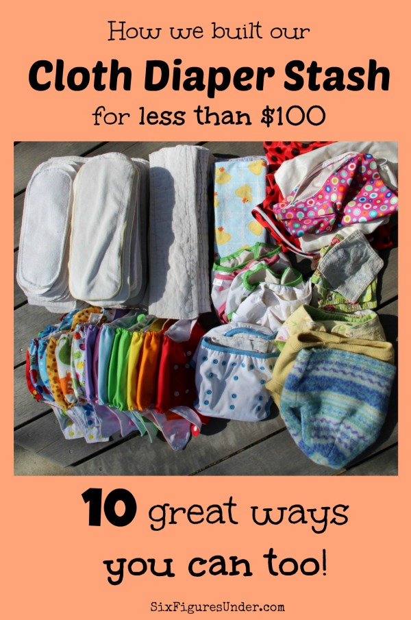 We spent less than $100 to get everything we needed for cloth diapering. Here are 10 strategies that you can use to get cloth diapers free or cheap too!
