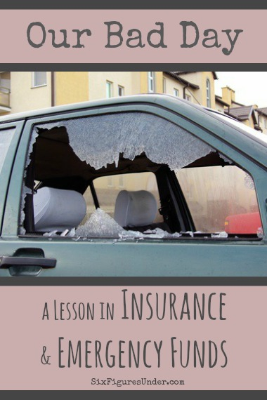 Even in the midst of serious debt repayment, having adequate insurance and an emergency fund is essential.  We were grateful  we had these in place when we had a really bad day.