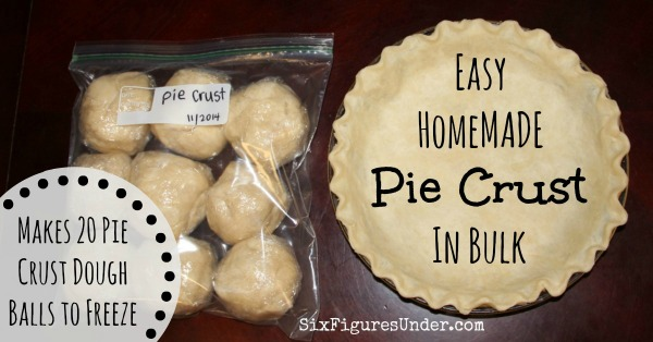 Easy Homemade Pie Crust In Bulk Save Time And Money Six Figures Under