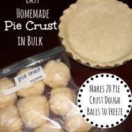 Easy Homemade Pie Crust in Bulk