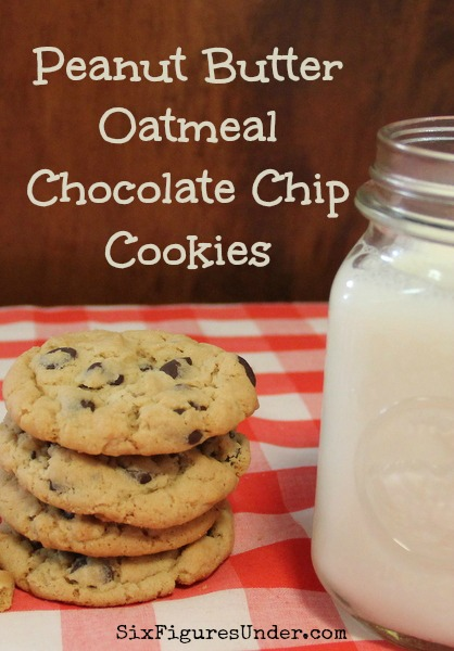 ... favorite cookie recipe: Peanut Butter Oatmeal Chocolate Chip Cookies