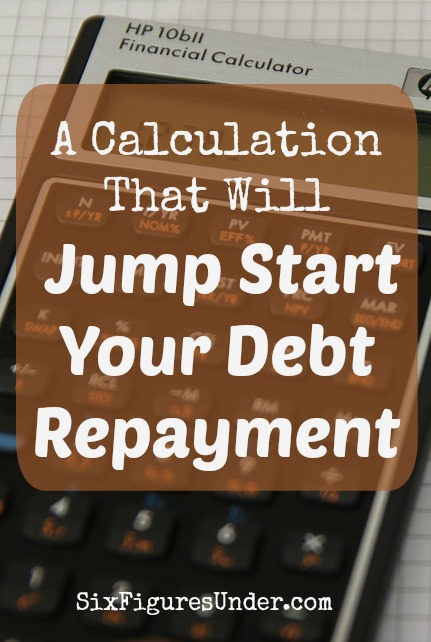If you need some motivation to get started paying off your debt, this simple calculation might be just the kick in the pants that you need! It sure motivated me!