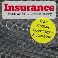 Insurance We Do and Don't Carry– Our Cost, Coverage and Reasons