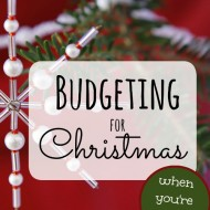 Budgeting for Christmas When You're in Debt