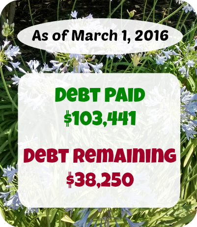 Every month we share what we earn, spend and pay off in debt. Here's our budget report from January 2016.