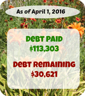 At Six Figures Under, we make our personal finances public. Here's a detailed report of our debt repayment and what we earn and spent in March!