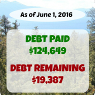 May 2016 Debt Repayment Progress Report