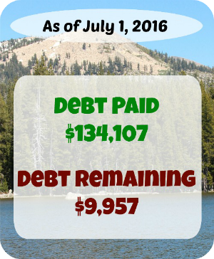 At Six Figures Under, we make our personal finances public. Here's a detailed report of our debt repayment and what we earn and spent in June!