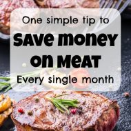 One simple tip to save money on meat every single month