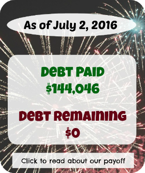 After serious focus and crazy hard work, we paid off $144,046 of student loan debt.  Read all about it here!