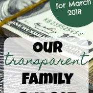 Transparent Family Budget Update– March 2018
