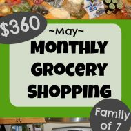 $360 Monthly Grocery Shopping Haul– May 2018 (+ video)