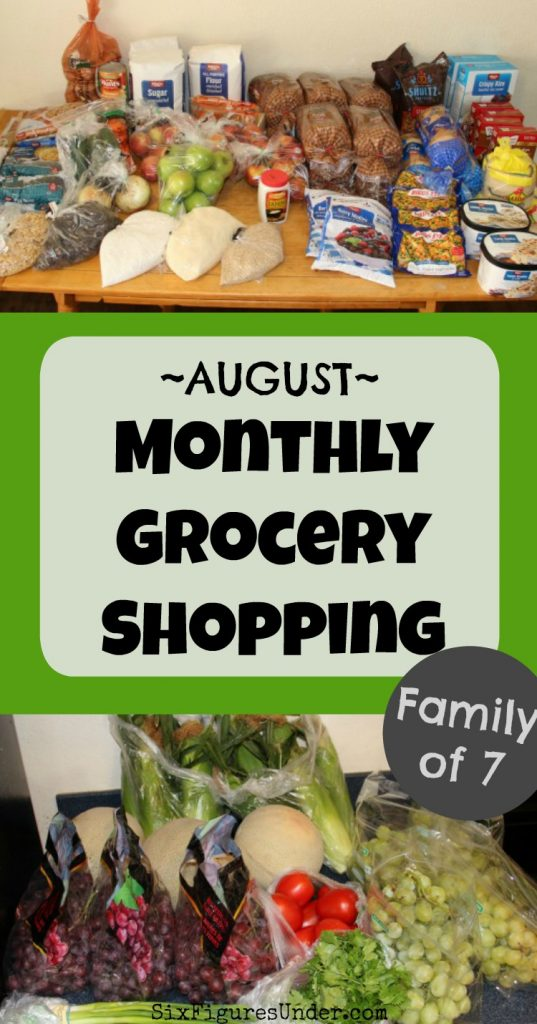 Get a peek at what a family of seven buys on a $400 per month grocery budget. Here's their monthly grocery haul from Winco and Sprouts.