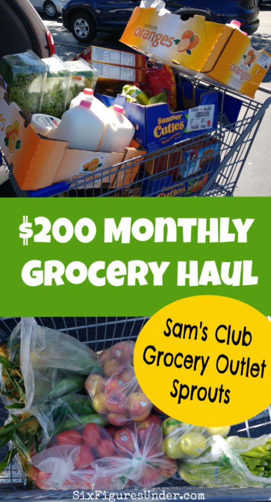 I spent $200 of our $400 monthly grocery budget in my first-of-the-month grocery haul. Check out the deals I got at Sam's Club, Sprouts, and Grocery Outlet!