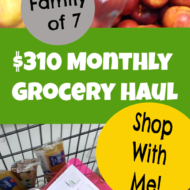October Monthly Grocery Haul ($310 for a family of 7)