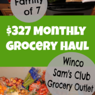 $327 Monthly Grocery Haul for Our Family of 7