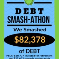 Debt Smash-athon AUGUST Progress Report