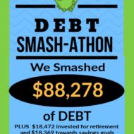 Debt Smash-athon JUNE Progress Report