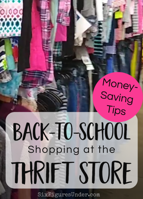 Back to School shopping doesn't have to break the bank. Here are Money-saving hacks for doing your back-to-school clothes shopping at the thrift store!