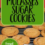 The Best Molasses Sugar Cookies