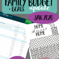 Real Family Budget Update– January 2020