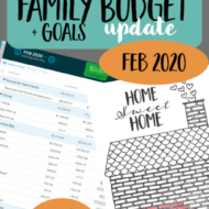 Real Family Budget Update– February 2020